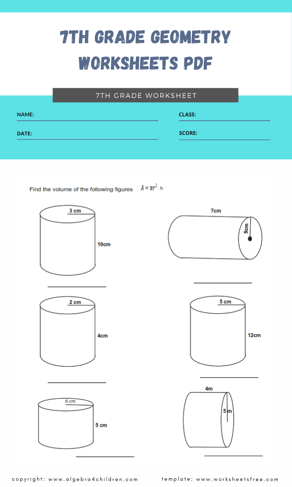 7th grade geometry worksheets pdf 1