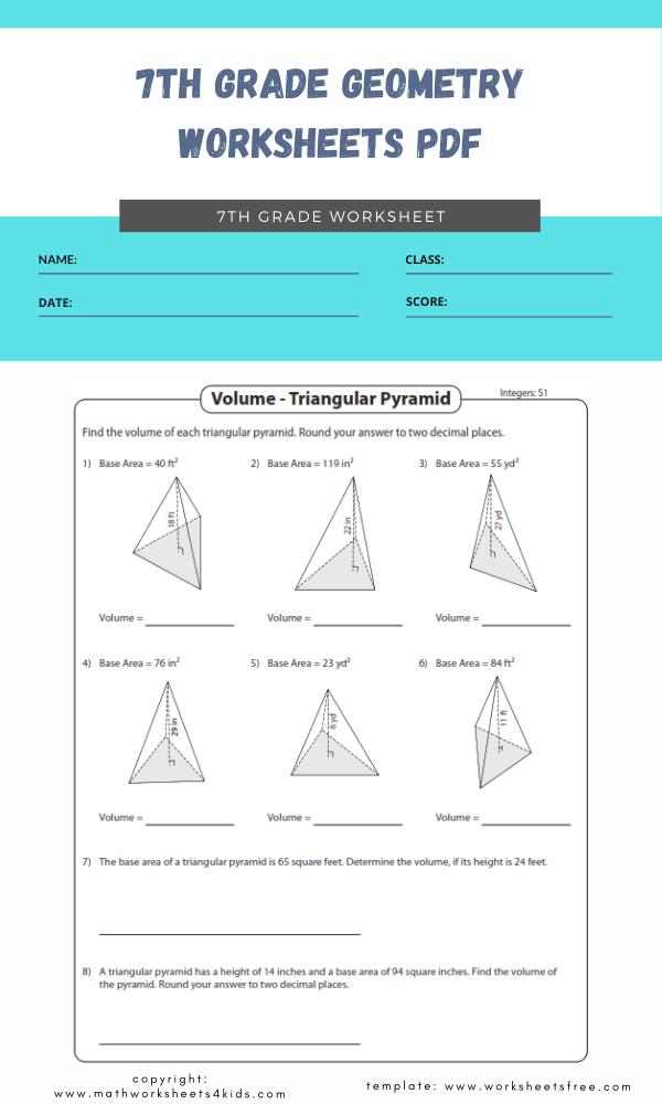 7th grade geometry worksheets pdf 3