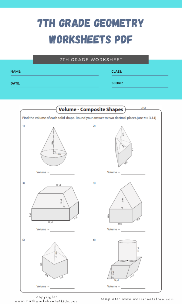 7th grade geometry worksheets pdf 5