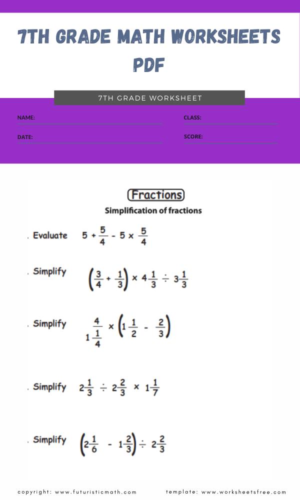 7th grade math worksheets pdf 47th grade math worksheets pdf 4