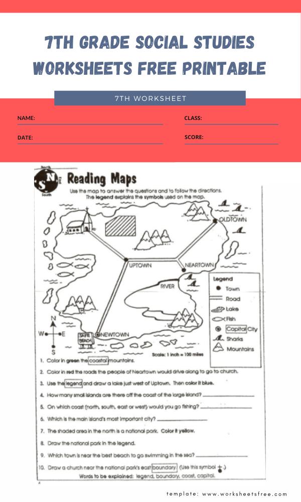 7th grade social studies worksheets free printable 2