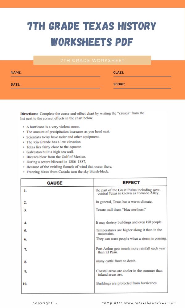 7th grade texas history worksheets pdf 3