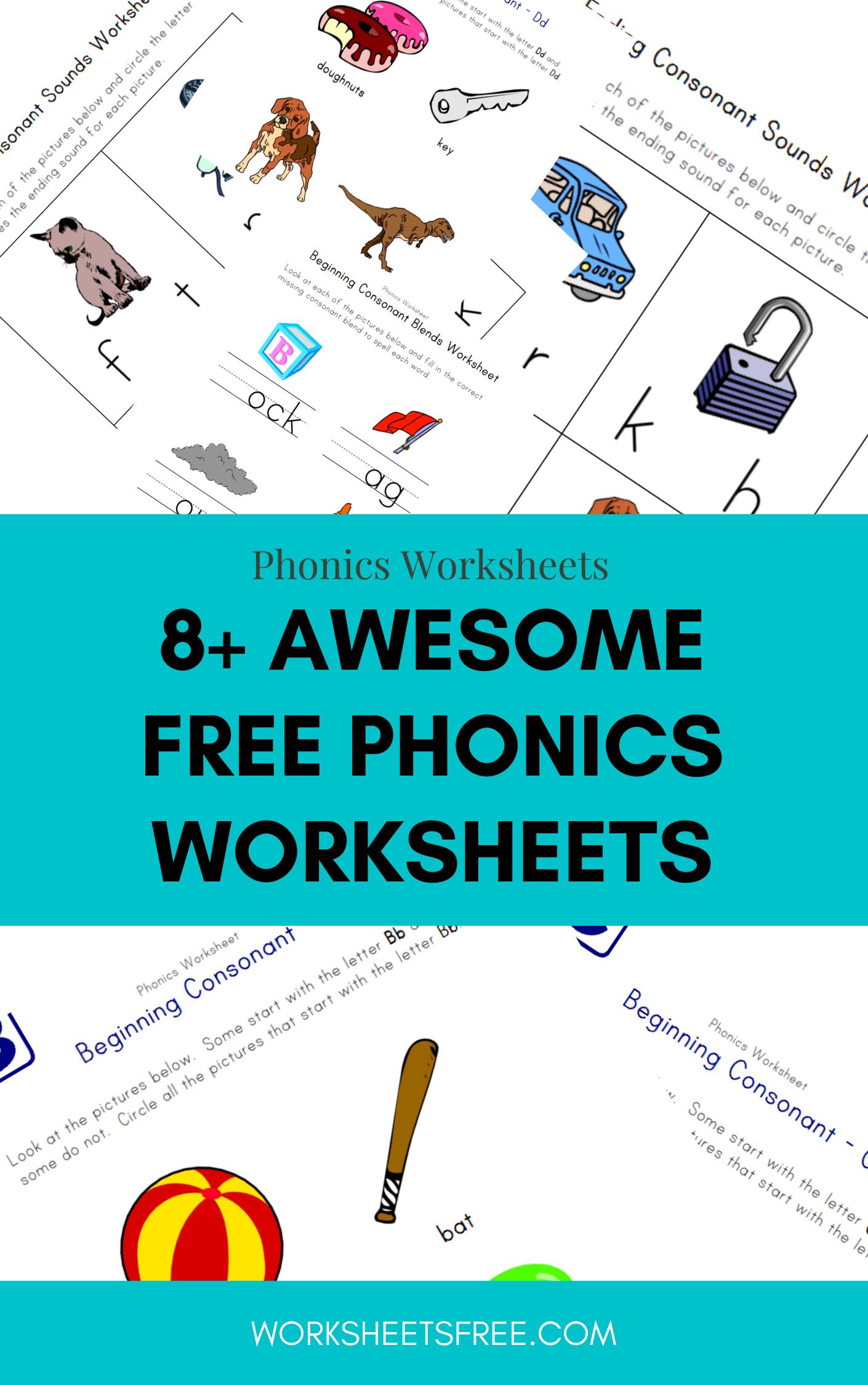 8 Awesome Free Phonics Worksheets