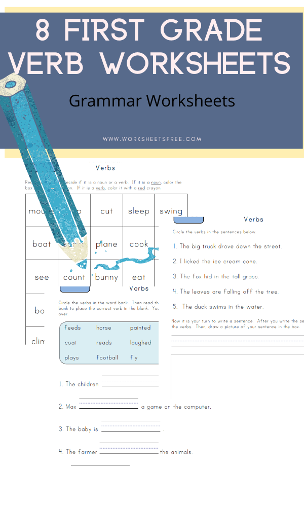 8 First Grade Verb Worksheets