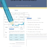 8 First Grade Verb Worksheets
