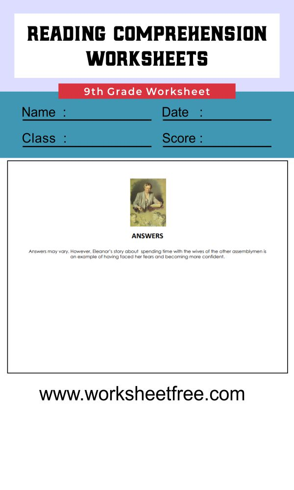 9th grade reading comprehension worksheets 5