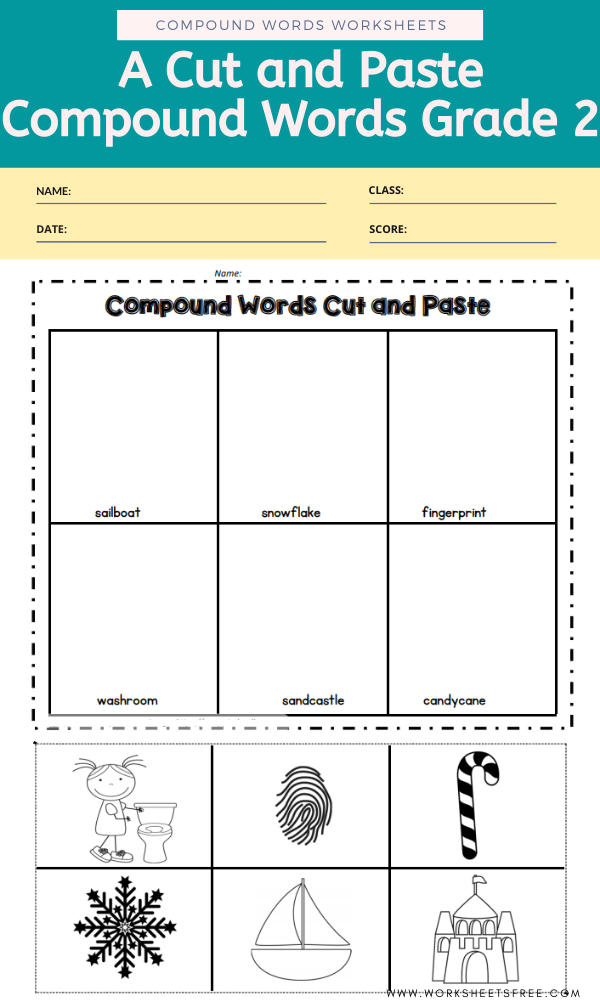 A Cut and Paste Compound Words Grade 2