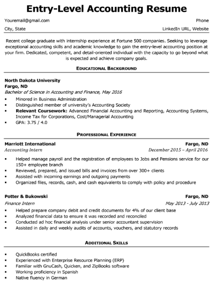 Accounting Student Resume Sample 5