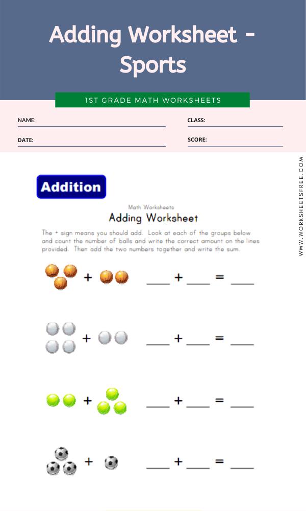 Adding Worksheet - Sports