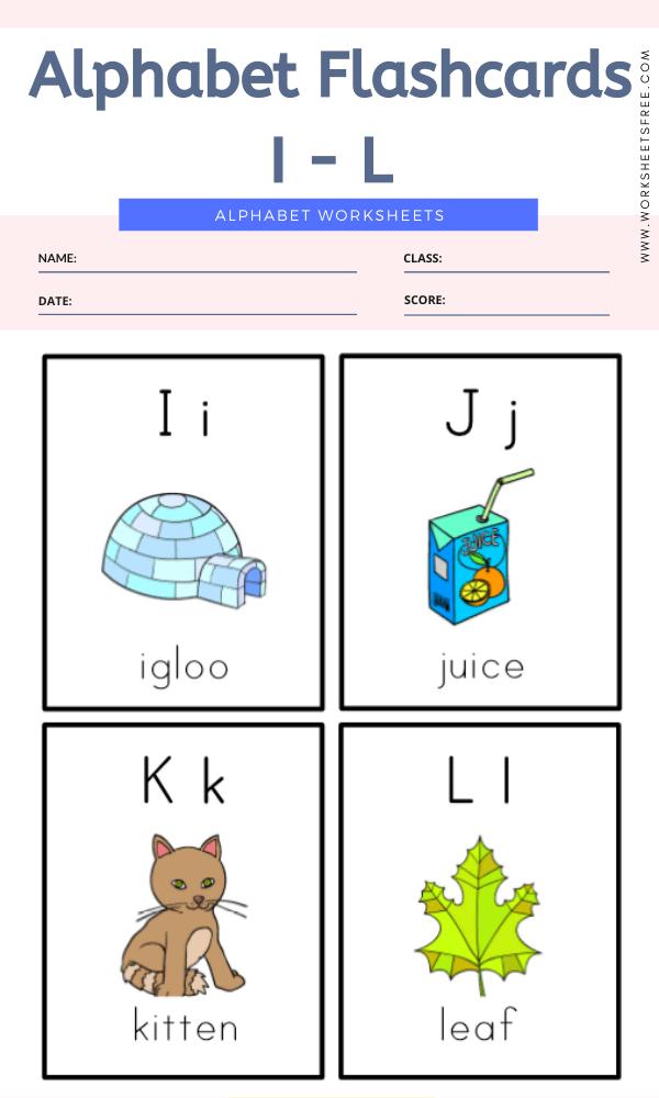 Alphabet Flashcards I - L