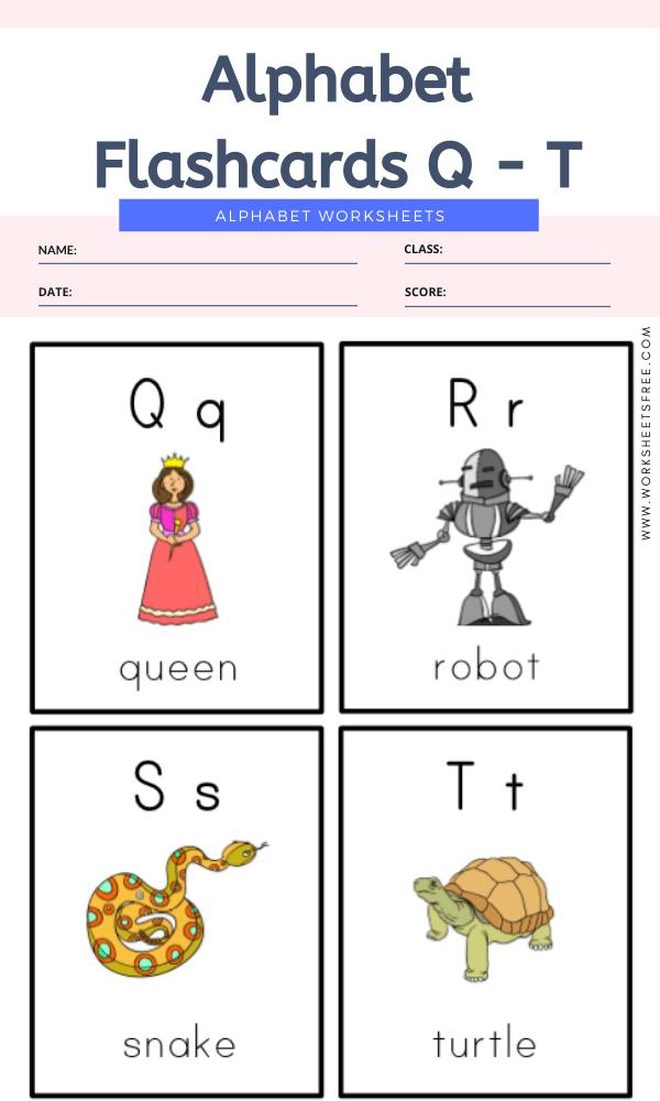 Alphabet Flashcards Q - T