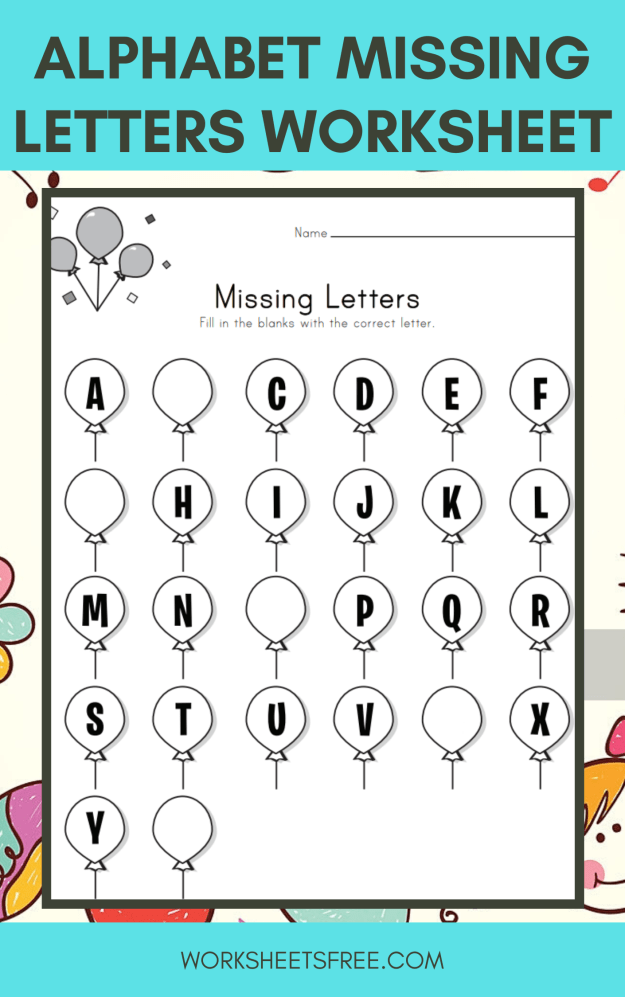 Alphabet Missing Letters Worksheet