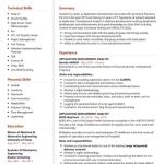 Application Development Analyst Resume Sample 1