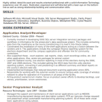 Application Development Analyst Resume Sample 3