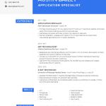 Application Specialist Resume Sample 2
