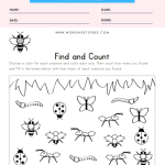 Bug Find and Count Worksheet