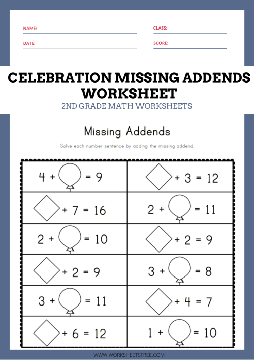 small resolution of Missing Add In Worksheets   Printable Worksheets and Activities for  Teachers
