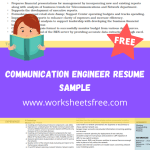Communication Engineer Resume Sample