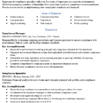 Compliance Manager Resume Sample 3