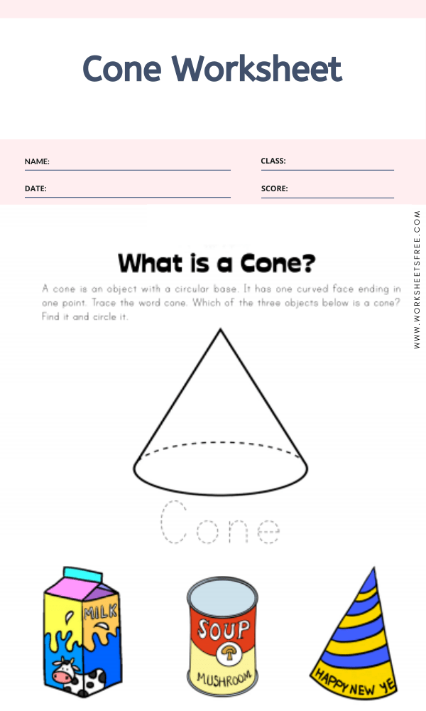Cone Worksheet