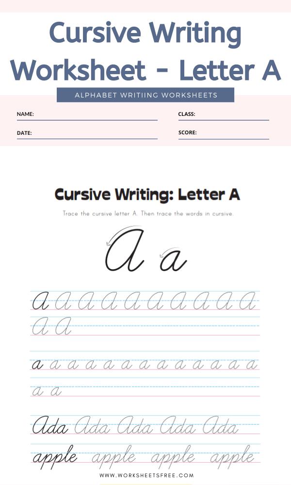 Cursive-Writing-Worksheet-Letter-A-Alphabet-Worksheets
