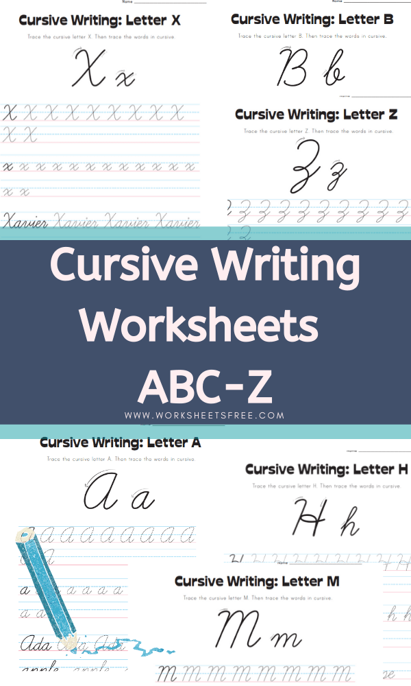 Cursive-Writing Worksheets ABC-Z Alphabet Worksheets