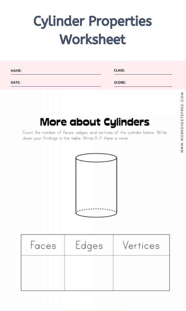 Cylinder Properties Worksheet
