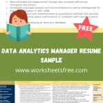 Data Analytics Manager Resume Sample