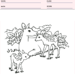 Deer Coloring Page - Animal Coloring Pages Worksheets