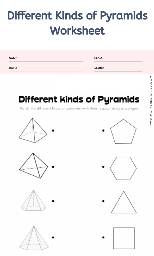 Different Kinds of Pyramids Worksheet