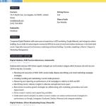 Digital Marketer Resume Sample 4