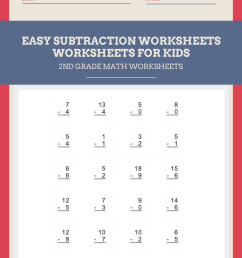 Easy-Subtraction-Worksheets   Worksheets Free [ 2000 x 1414 Pixel ]