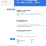 Embedded Software Engineer Resume Sample 2