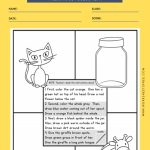 FOLLOWING DIRECTIONS & PREPOSITIONS WORKSHEET