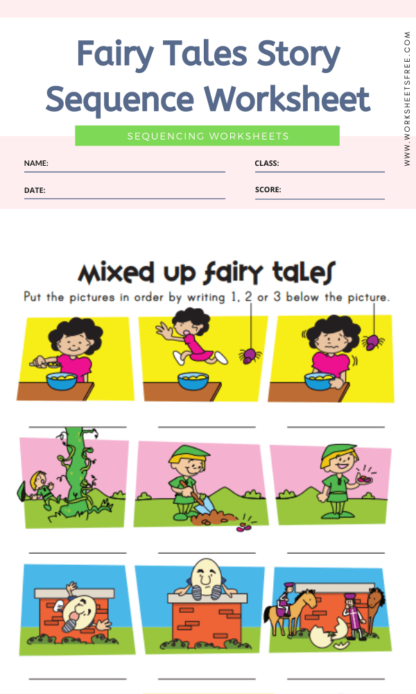 Fairy Tales Story Sequence Worksheet