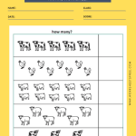 Farm Animals Counting Worksheet 3