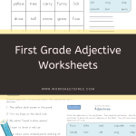 First Grade Adjective Worksheets