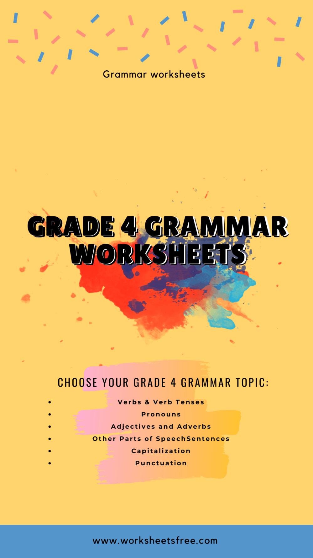 medium resolution of Grade 4 grammar worksheets   Worksheets Free