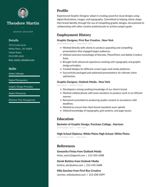 Graphic Designer Resume Sample 5
