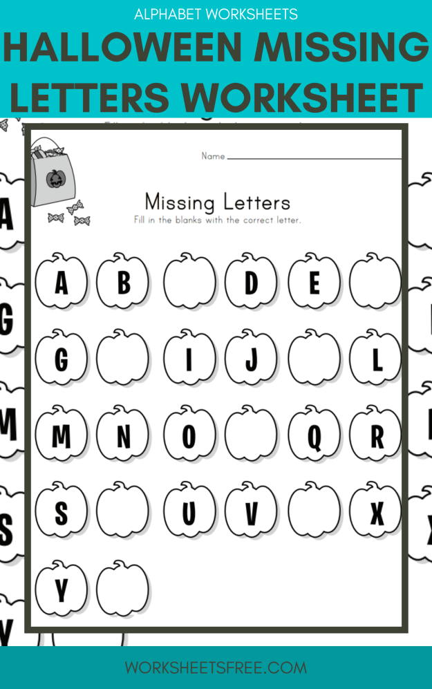 Halloween Missing Letters Worksheet