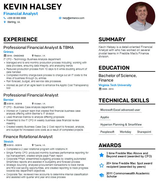 Junior Financial Analyst Resume 3