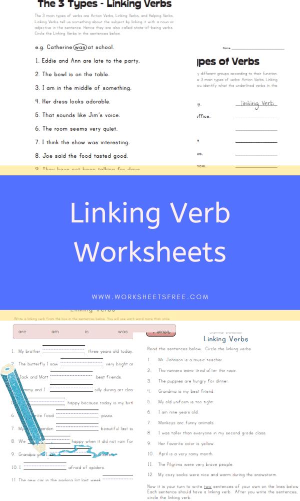Linking Verb Worksheets