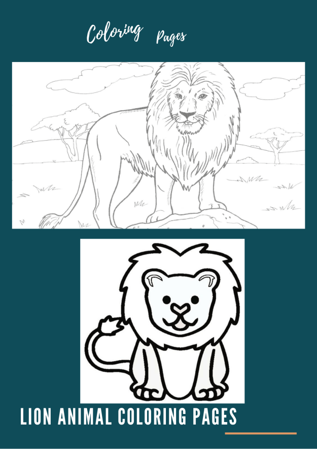 Lion Animal Coloring Pages