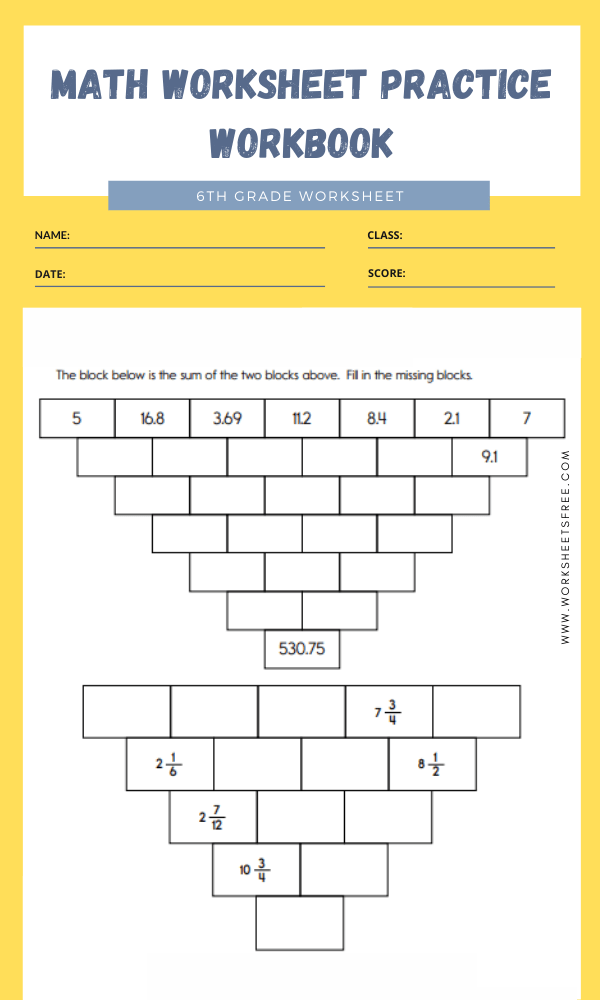 Math Worksheet Practice Workbook