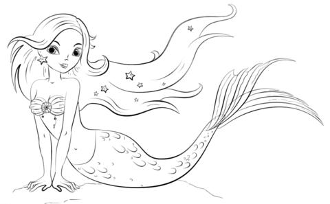 Meerjungfrau Malvorlagen
