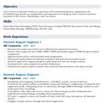 Network Support Engineer Resume Sample 1