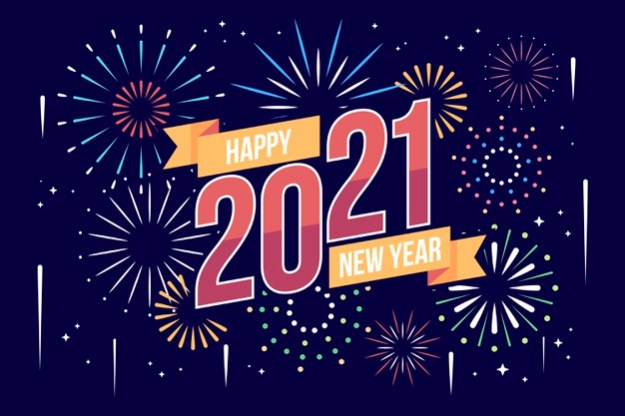 New year 2021 in flat design Free Vector