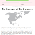 North America Reading Comprehension Worksheet