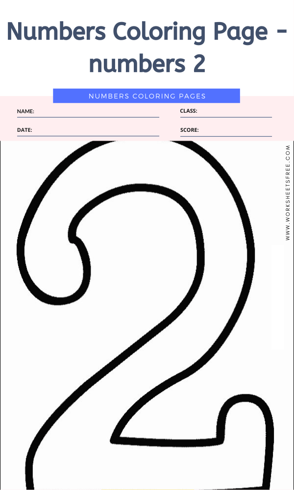 Numbers Coloring Page - numbers 2