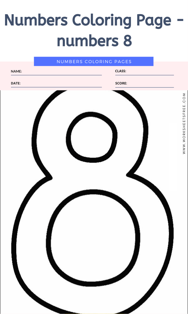 Numbers Coloring Page - numbers 8